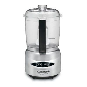 "I was 21 years old, wandering the William Sonoma store, holding my gift certificate from Dad. I was totally lost. With little knowledge or direction I stumbled upon this little food processor. Honestly, I think I bought it because I thought it was ""cute"". Now 6 years later this little baby still earns the honor of being a ""counter-top"" appliance. The Mini-prep has a sharp blade for quick and even chopping. It's perfect for small batches of pesto or hummos! $39.99"