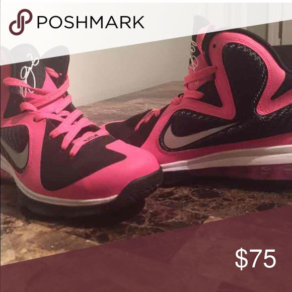 Pink Lebrons Size 7Y which is about an 8 women's Nike Shoes Athletic Shoes
