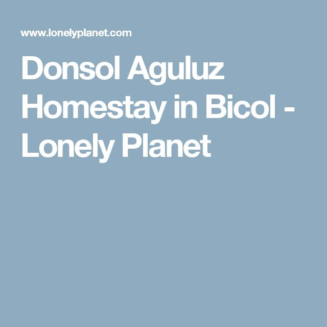 Donsol Aguluz Homestay in Bicol - Lonely Planet