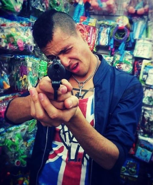 #Punk #Mohawk Taxi Driver #Gun #Shoot
