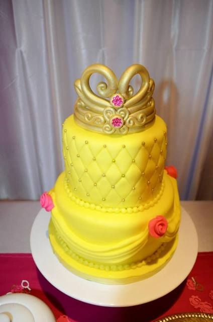 Cake at a Beauty and the Beast Party #beautyandthebeast #partycake