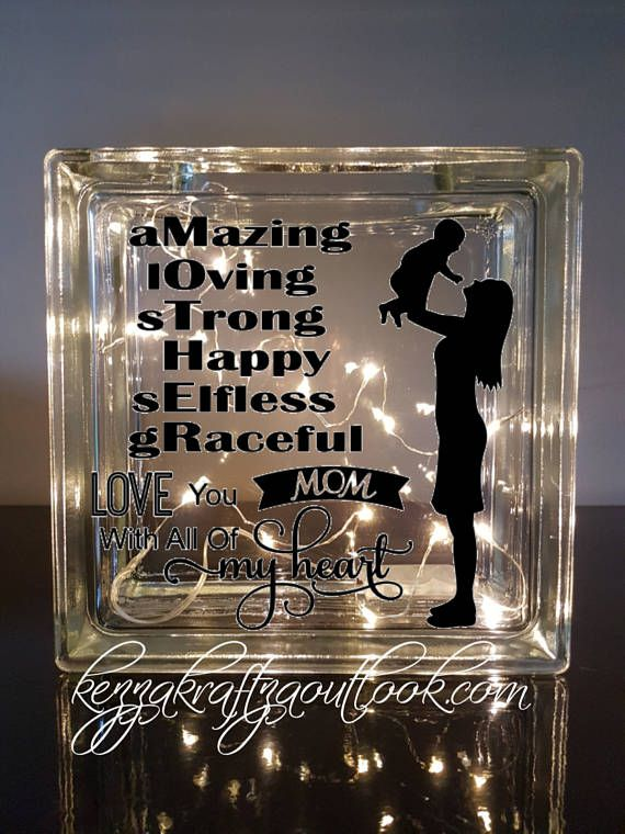 Personalised Light Up Glass Blocks For Any Occasion Handmade To