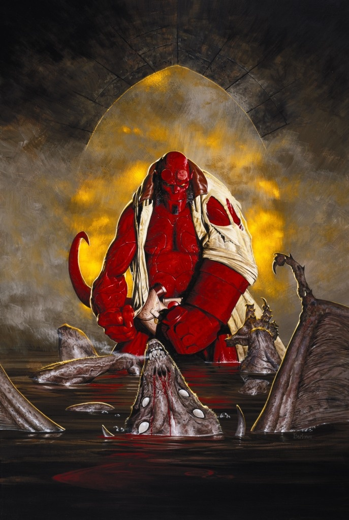Pre-preproduction painting for Hellboy 1 by Wayne Barlowe....absolutely wonderful artist who worked on Avatar ( Navi and all those animals), Harry Potter (Lupin concept), Hellboy, Riddick 1 and many more