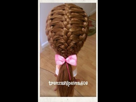 Esta trenza, paso a paso, es especial para cualquier ocasion, escuela, bandas, el dia,etc. This step by step braid is special for any occasion, school, bands...