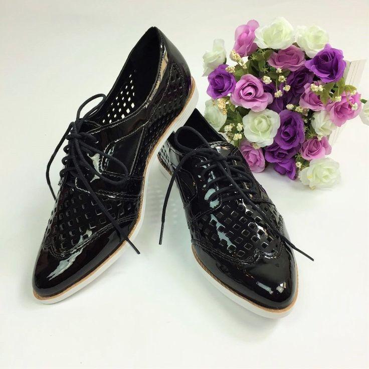Sapato Oxford Envernizado Com Recorte Vazado http://www.lookstore.com.br/sapato-oxford-envernizado-com-recorte-vazado
