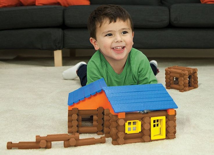 Logs Lincoln Lodge Preschool Toy Building Play Build Lodges Child Free Shipping #LincolnLogs