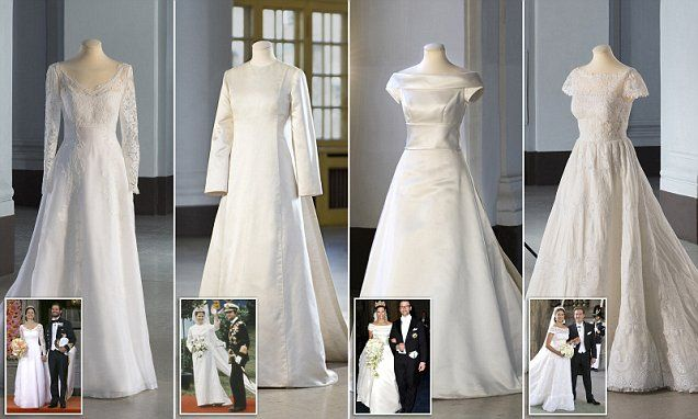 Swedish royal family's wedding dresses to go on display