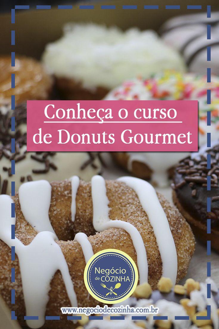 Fazer Donuts Gourmet dá dinheiro! Aprenda a fazer e comece a faturar mais de R$2.000!  #Donuts #DonutsGourmet #FacaeVenda #NegocioDeCozinha #GanharDinheiro #TrabalharEmcasa #Receita #Curso