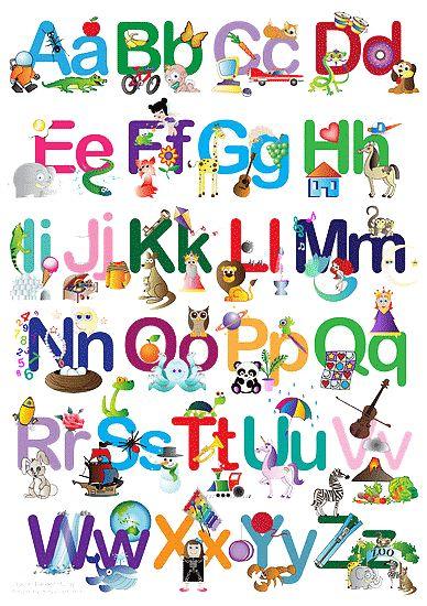 10 best Alphabet images on Pinterest | Abc poster, Alphabet posters ...
