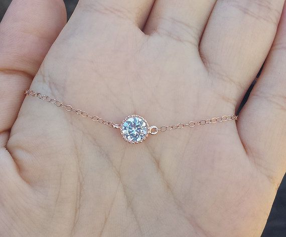 Inspired by a Tiffany design, this tiny dot necklace has:  1 white gold plated or gold plated or rose gold plated diamond cut crystal dot-6mm 2 sterling