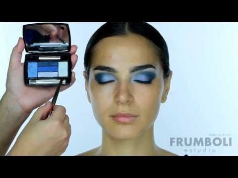 Tutorial maquillaje de ojos en la gama de azules www.bettinafrumboli.com.ar #tutorial #makeup #blueeyes