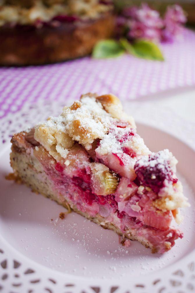 Low Carb Rhabarber-Himbeere-Kuchen – Low Carb Köstlichkeiten