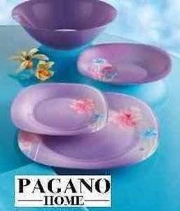 Luminarc Angel Purple dinner set 19 pieces (for 6 person): Amazon ...