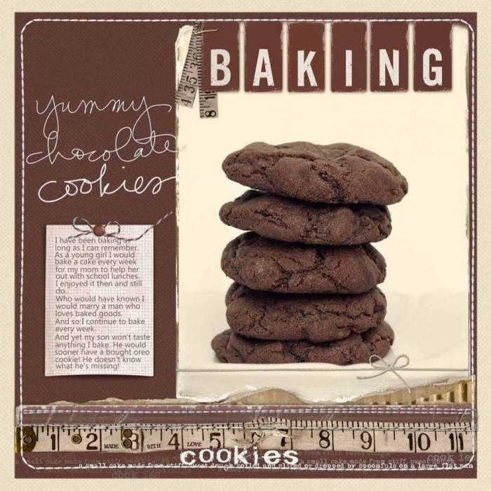 Chocolate Cookies - Digital Scrapbooking Ideas - DesignerDigitals