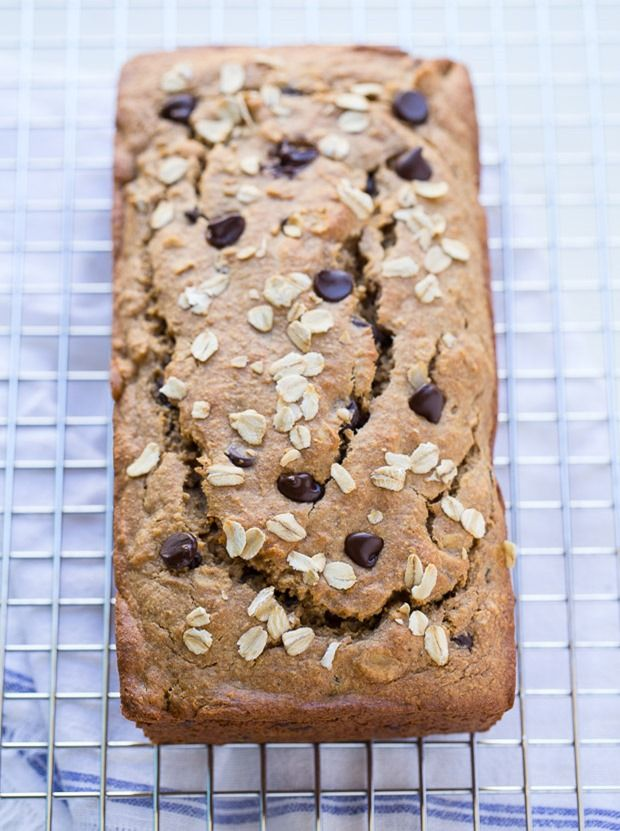 Flourless Vegan Gluten-free Banana Bread- made without starches, gums, flax, or refined sugar. Takes just 10 minutes to prep in your blender!