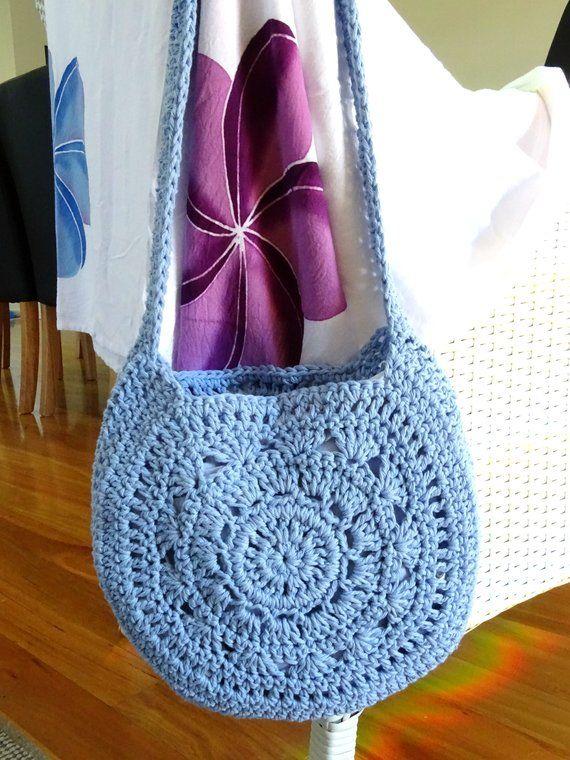 Patrón de bolsa de ganchillo fácil | Tutorial de patrón de bolsa de bricolaje | PDF Crochet Descargar | Crochet Bag Making | Bolso de hombro Boho | Accesorios 0102
