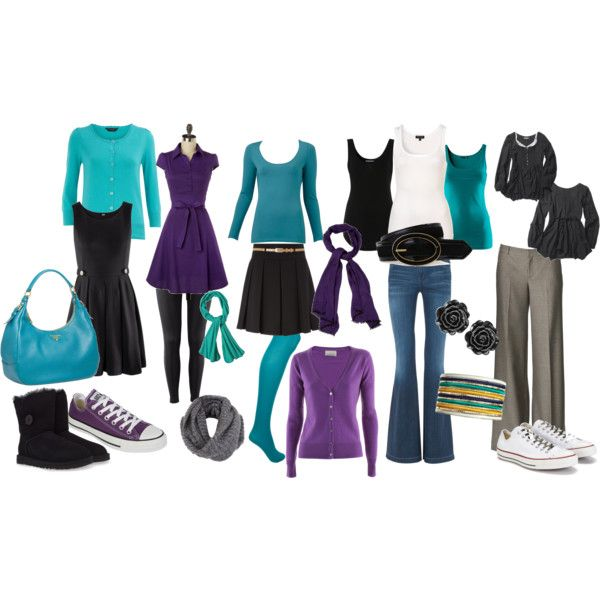 """""""my capsule wardrobe teal"""" by ayirrell on Polyvore"""