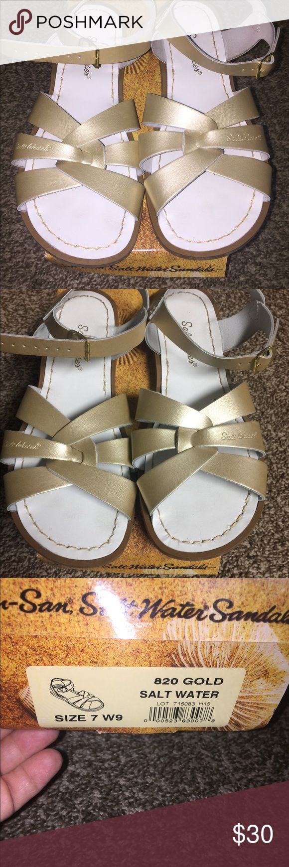 Salt Water Sandals I wore these once at Disneyland. I wear a size 8 in woman but in these sandals I was the size shown on the box. Salt Water Sandals by Hoy Shoes Sandals