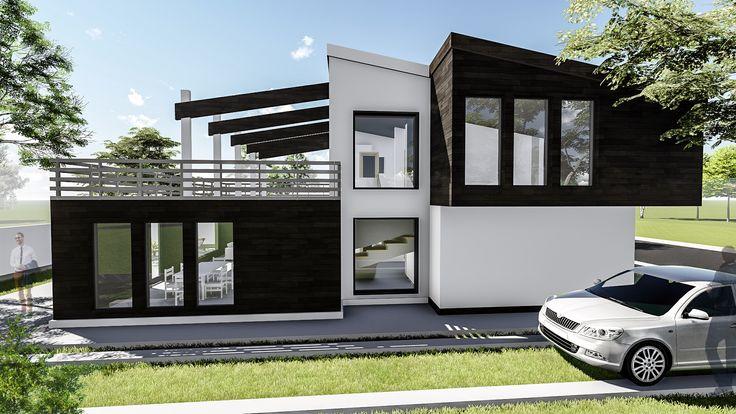 Proiect casa DEEZEN. Parter + Mansarda | 4 camere | 176mp. Mai multe detalii gasiti aici: http://uberhause.ro/proiect-casa-parter-mansarda-176-mp-deezen