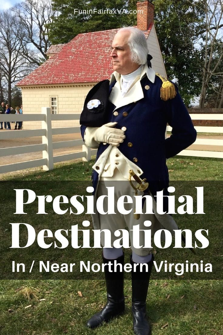 Virginia US history   Things to do near DC   Presidential destinations in and near Northern Virginia are perfect for a President's Day weekend outing, or fun and history all year long. #history #Virginia #GeorgeWashington