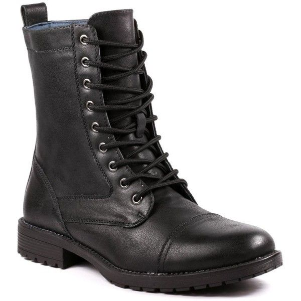 Metrocharm MET525-7 Men's Lace Up Cap Toe Military Combat Work Desert... (146.970 COP) ❤ liked on Polyvore featuring men's fashion, men's shoes, men's boots, men's work boots, mens work boots, mens combat style boots, mens cap toe boots, mens military boots and mens combat boots