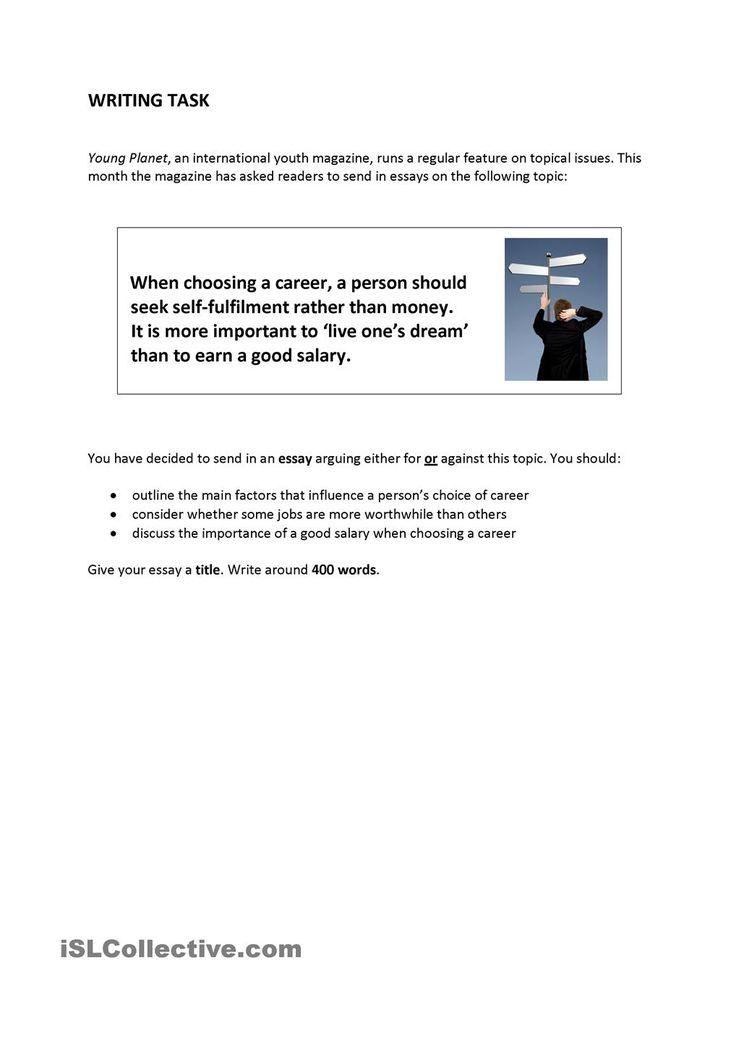 best career choices ideas a career career writing task career choice