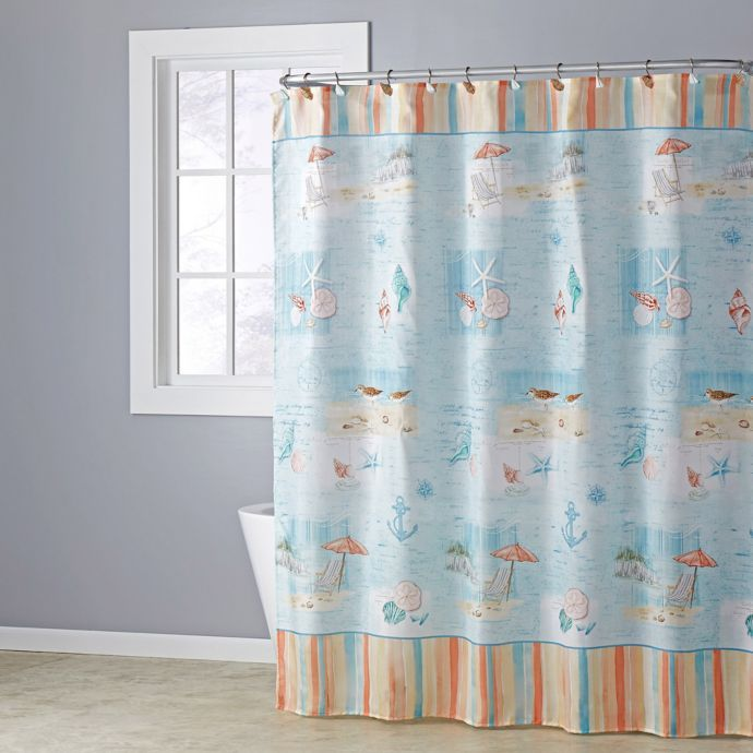 Seaside Harbor Shower Curtain Collection Beach Shower Curtains