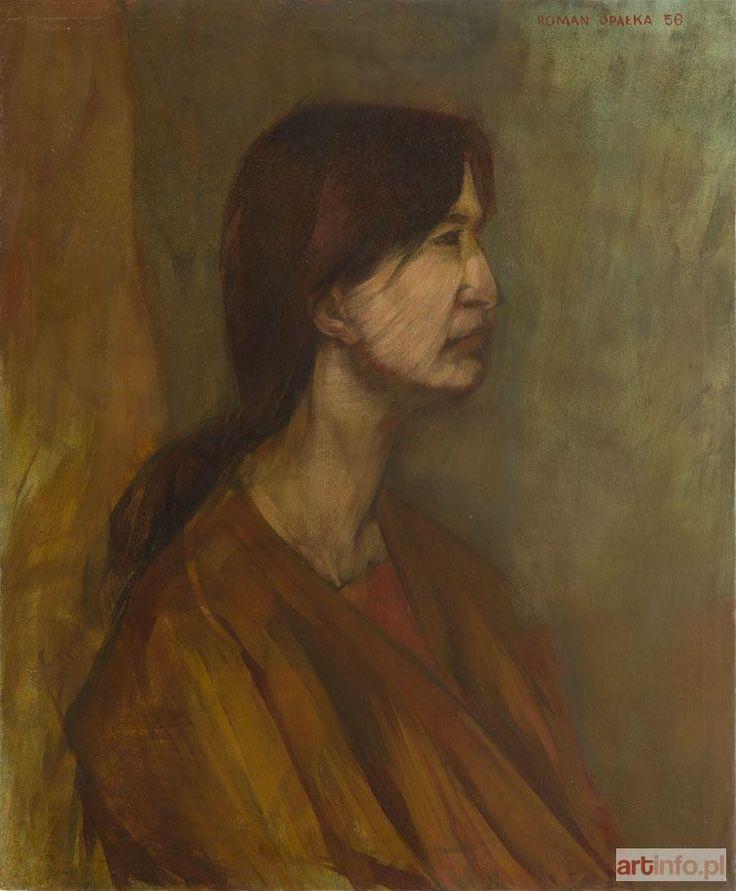 Roman OPAŁKA ● Portret, 1956 r. ●