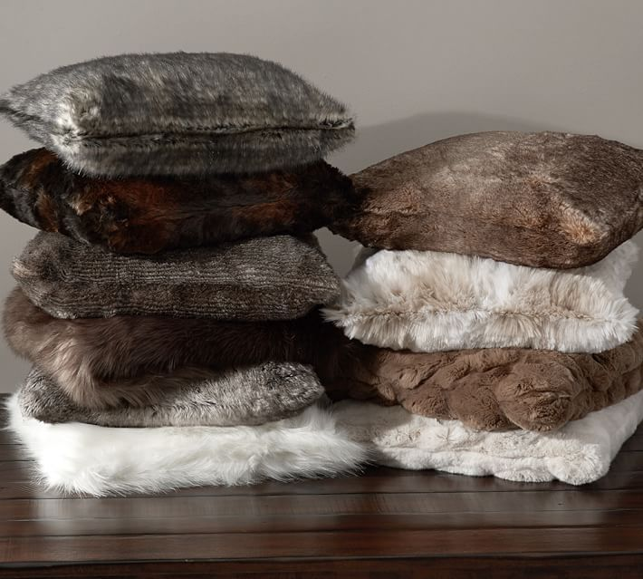 Faux Fur Ombre Pillow Covers Pillows Fur Pillow Throw