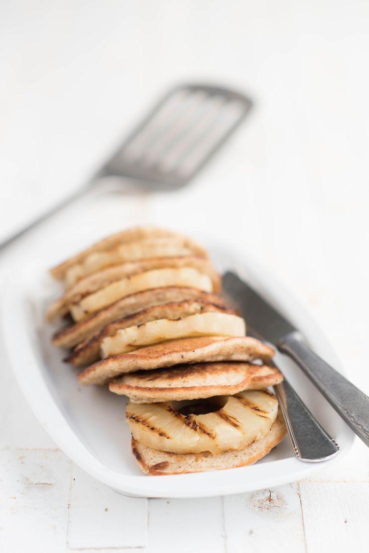 I Love Health | Ricotta pancakes met gegrilde ananas | http://www.ilovehealth.nl
