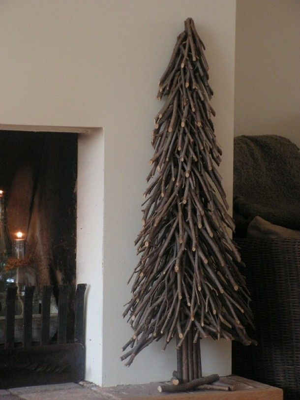 Twig Tree Sculpture Alternative For Xmas. Collect Driftwood In Summer Or  Trimmings In Fall, Build A Tree For Christmas, And Use The Bits As Kindling  To Keep ...