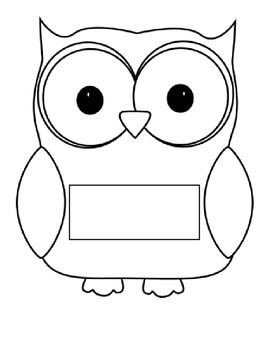 Simply print out the owls write the child's name then cut them out. They can be…