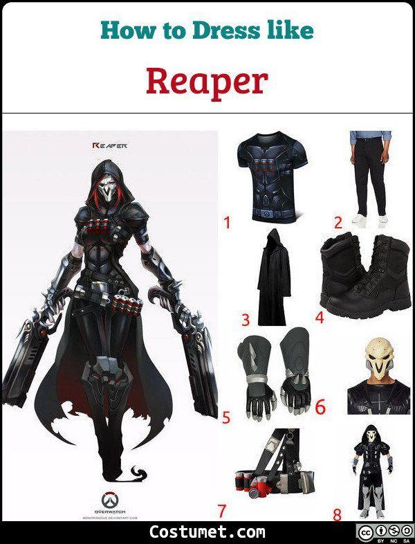 Overwatch Costumes Halloween 2020 Reaper (Overwatch) Costume for Cosplay & Halloween 2020