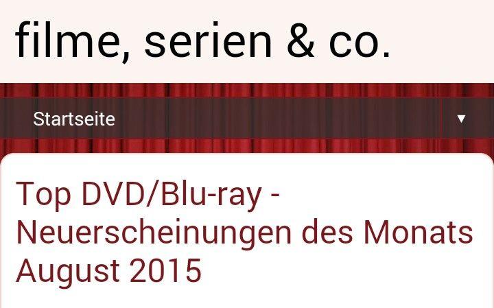Neuerscheinungen auf DVD und Blu-ray für August 2015! Auch mit Trailer und co..Link gibt es in der Beschreibung