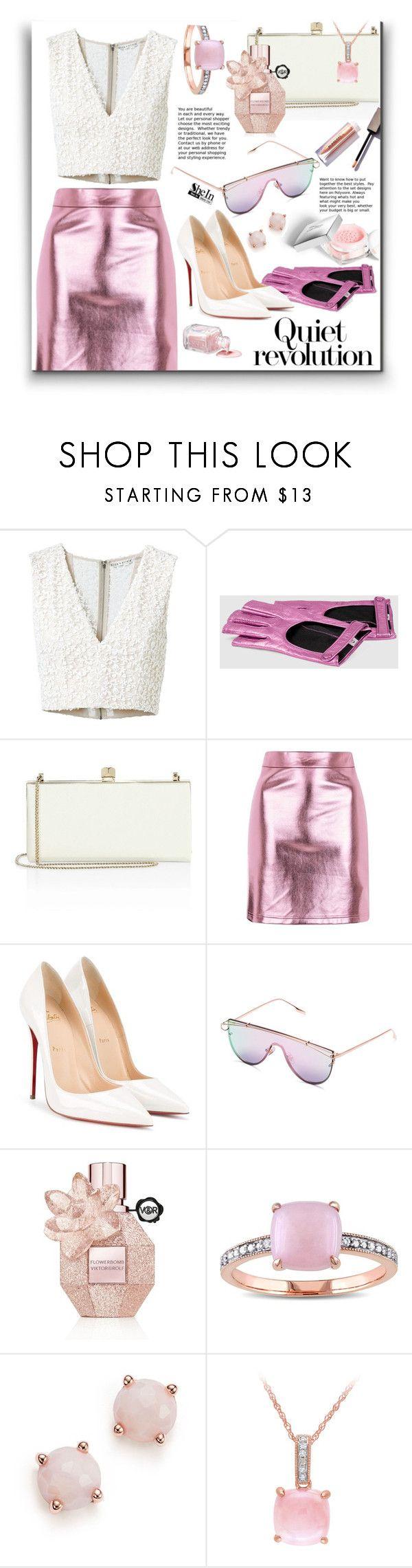 """Pink Sunglasses"" by ceci-alva ❤ liked on Polyvore featuring Alice + Olivia, Jimmy Choo, Topshop, Christian Louboutin, Christian Dior, Olsen, Viktor & Rolf, Miadora and Ippolita"
