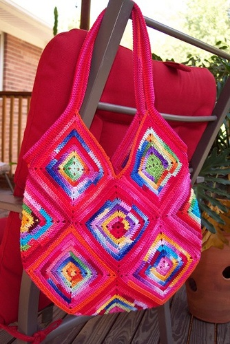 Red crochet purse by Buckster's Pics, via Flickr