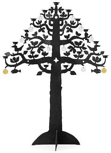 """""""Livets träd"""" - Tree of Life - A Bertil Vallien, iron and glass, floor candelabrum, Boda Smide. Height 135 cm (auction price 19 600 sek). I wish that I had purchased one in the seventies."""