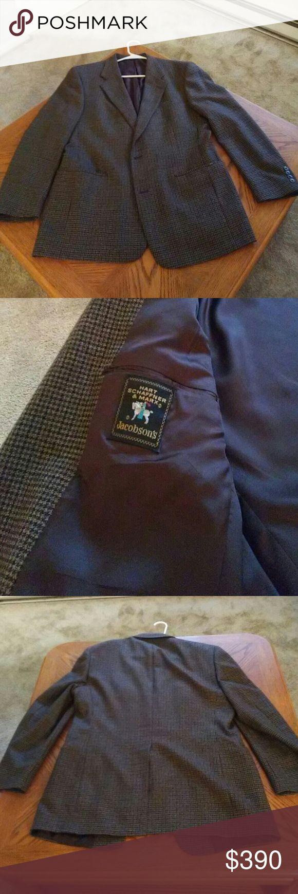 Hart Schaffner & Marx men's sports jacket Plaid high quality sports jacket Hart Schaffner Marx Suits & Blazers Sport Coats & Blazers