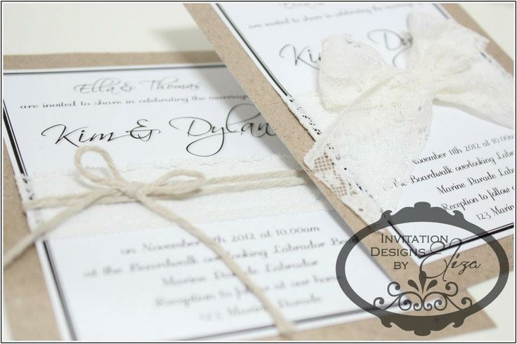 Invitation Designs {Wedding} Rustic Lace Theme www.facebook.com/InvitationDesignsByEliza