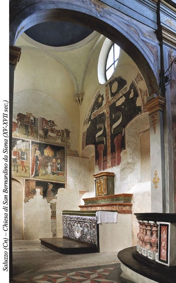 The chapel of the Holy Cross in San Bernardino's church (XV-XVII c.) in Saluzzo - Cuneo - Piedmont - Italy after paintings conservation (2009-2011)