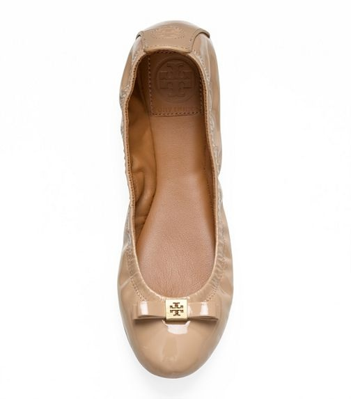 Patent Leather Eddie Bow Ballet Flat   Womens Flats   ToryBurch.com