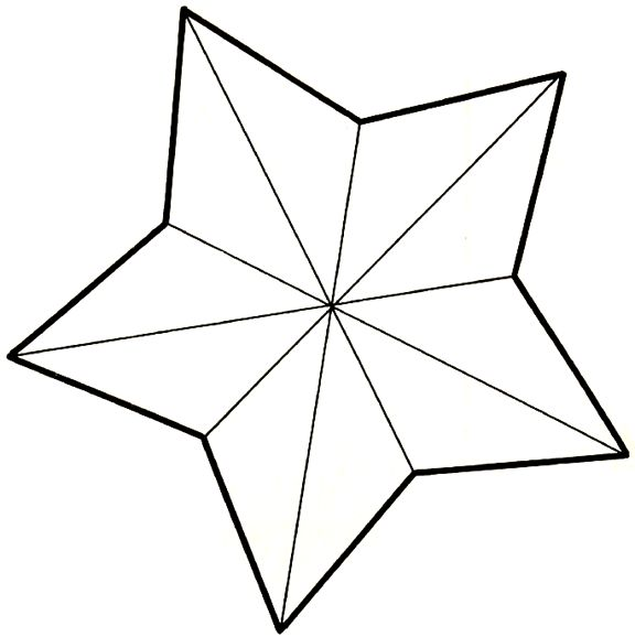 Star Pattern to Cut Out Template