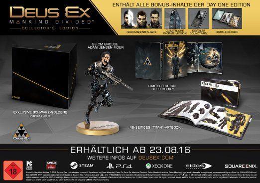 Deus Ex: Mankind Divided - Collector's Edition [PlayStation 4]: Amazon.de: Games