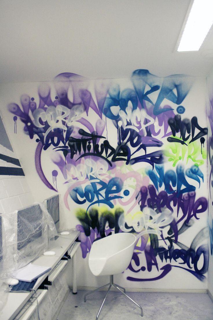 #Graffiti in the #office - so cool! www.creativeboysclub.com