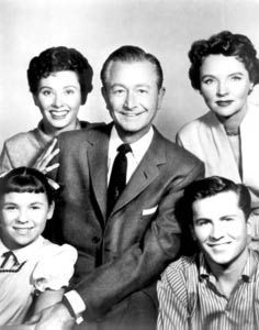 Father Knows Best - 1954-1960. I remember the whole family watching this show, which was rare, as my Dad worked 6 days/2 nights a week.