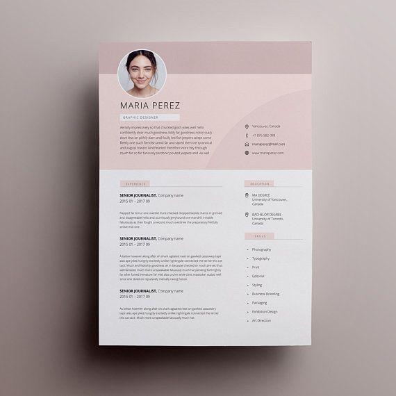 Modern Resume Design Resume Template Word Cv Template