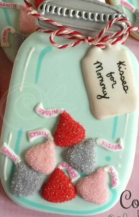 Cookies with Character: Mason Jar with Kisses and a Gift Tag