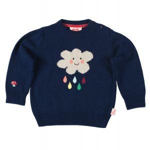 childrens kids jumper sweater knitwear knitted girls boys cloud blue unisex