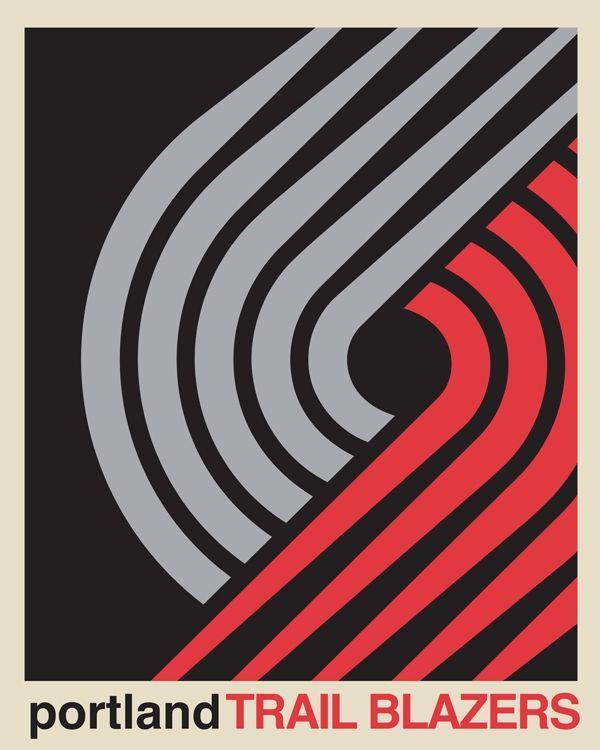 Blazers Portland Posters: 313 Best Basketball Logos Images On Pinterest