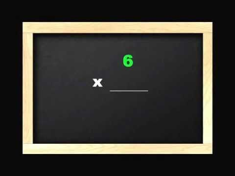 Learn 6 times tables with this multiplication video for for Table 6 song